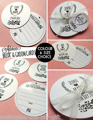 12 Advice For The Bride & Groom Cards PERSONALISE Alternative Wedding Guest Book
