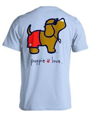 Puppie Love Help Rescue Dogs T-Shirt Puppy Love Lifeguard Pup NWT - Dog Lifeguard Shirt