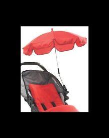 Universal Pushchair buggy Parasol umbrella - Red