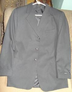 Black Clairborne suit jacket and dress trousers for kids