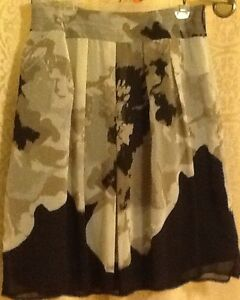SKIRT (size 10) by CLEO in colours beige, black, taupes with bro