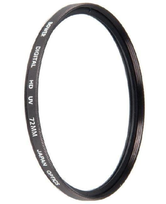 Bower 72mm UV Lens Filter for Sony DSC-RX10 IV, DSC-RX10 III (Black)