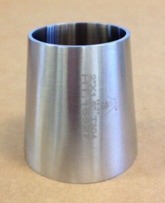 2.0 X 1.5 Sanitary Concentric Reducer T304 Stainless Steel Weld End Fitting