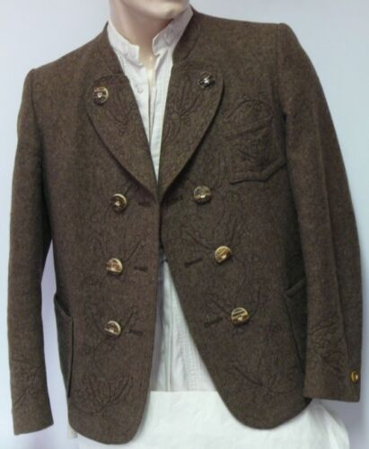 ☛ Classy Brown Embroidered Miesbacher Men