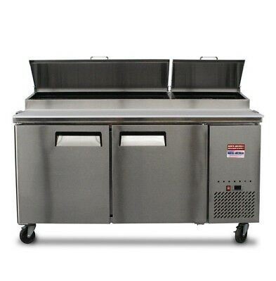 Pizza Prep Table 67 Unit 6 Make Line Refrigerator Prep Cooler 2 Door 72
