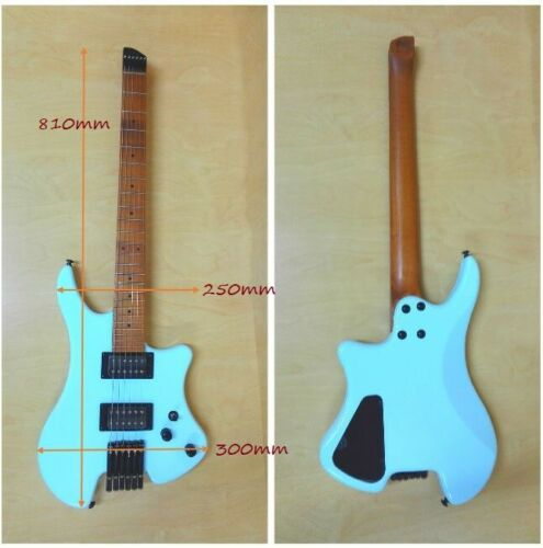 Haze Light-Blue Headless Electric Guitar,HH,Solid Body+Free Gig Bag HZHL-1A BL