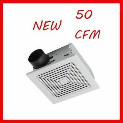 50 Cfm Exhaust Fan - 50 Cfm Broan Ventilation Fan Bathroom Exhaust Celing Vent Home Quiet Easy New