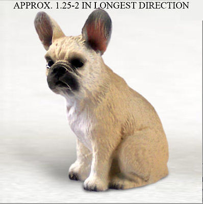 French Bulldog Mini Resin Hand Painted Collectible Dog Figurine Fawn