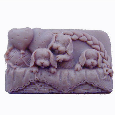 DOG - Handmade Silicone Soap Mold Candle Mould Diy Craft Molds 05
