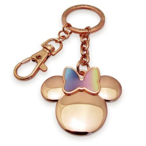 Disney Store Minnie Mouse Icon Gold Iridescent KeyChain