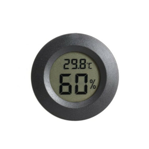 MDX Mini LCD Celsius Digital Temperature Humidity Meter Thermometer (Black) R5Y2