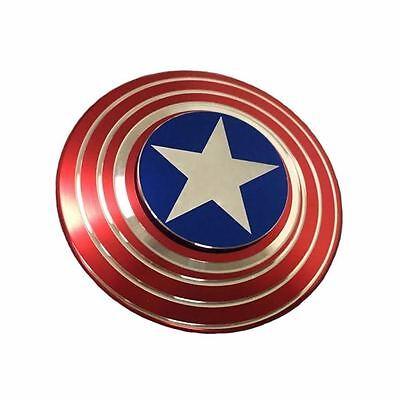 US Captain America Shield Fidget Hand Spinner EDC Focus Gift For Kids Safe
