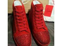 Louboutin red crystal