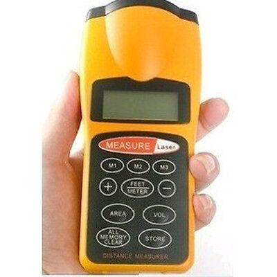 New Waterproof Lcd Ultrasonic Distance Measurer Area Volume Calculator Laser