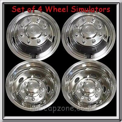 """Set 4 Wheel Liners Simulators 2013-2014 Dodge Ram Truck 3500 Dually 17"""" Metal"""