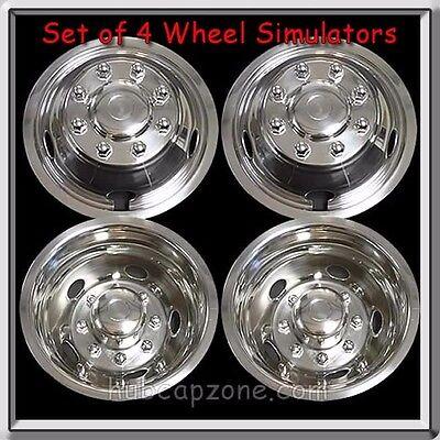 "Wheel Liners Simulators 2013-2014 Dodge Ram Truck 3500 Dually 17"" Metal Snap On"
