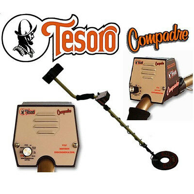 "Tesoro Compadre Metal Detector with 8"" Search Coil and Lifetime Warranty"