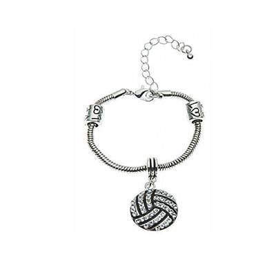 Volleyball Rhinestone Charm Bracelet](Volleyball Charm Bracelet)