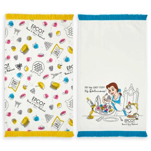 Disney World Epcot Beauty and the Beast Kitchen Towel Set, NEW