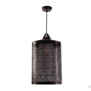 Sorcerer 1-Light Chandelier, Black Zinc Finish