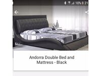 Andorra Black Double Bed