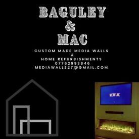 Media walls and home refurbishments