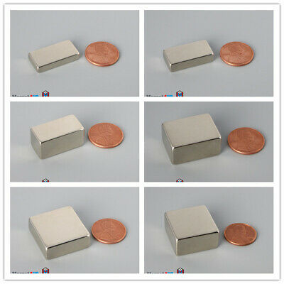 N52 Mulitiple Szie 25mm 1 Length Large Rare Earth Neodymium Block Magnets