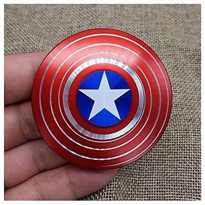 NEW UNIQUE Captain America Shield Fidget Spinner EDC Focus For Kids ADHD Autism