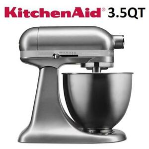 NEW KITCHENAID STAND MIXER KSM3311XCU 189540755 TILT HEAD ARTISAN MINI SERIES CONTOUR SILVER 3.5QT