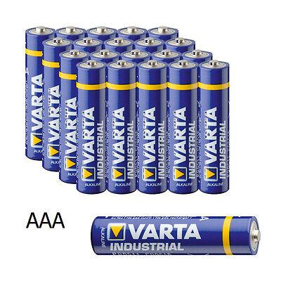 20 x Varta Industrial Alkaline AAA Batterie Micro LR3 1,5V Batterien 5864 1 3 Aaa-batterie