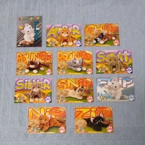 Ty Beanie Babies Trading Cards CATS (With Reflective Card)