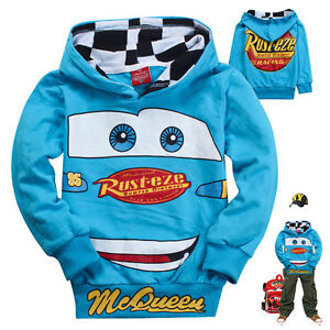 Cars-Lightning-McQueen-Kids-Boys-Toddlers-Girls-Hoodies-Unisex-Clothes-6-7Years
