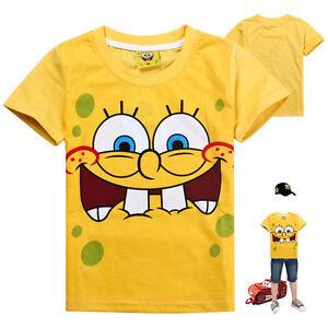 New-Baby-Boys-Girls-SpongeBob-Short-Sleeve-Tee-T-Shirts-7-8-years-140
