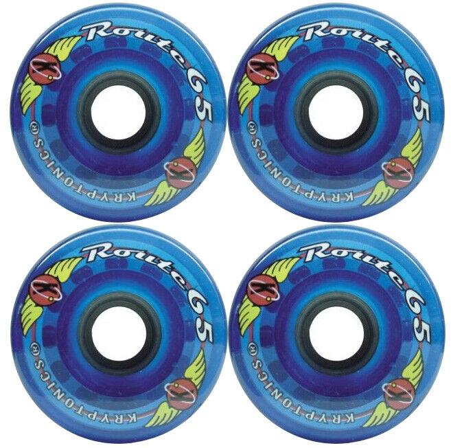 KRYPTONICS ROUTE 65MM 78A BLUE Longboard Cruiser Skateboard Wheels