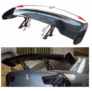 brand new UNIVERSAL CARBON FIBER REAR SPOILER WING, RACING