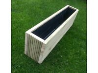 Planter Double Height 1 Meter long. Ideal to stand on low garden wall. Top Quality Brand New.