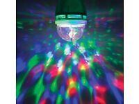 Disco Light Bulb Amazing Disco Effect Standard Bayonet Cap Fitting.