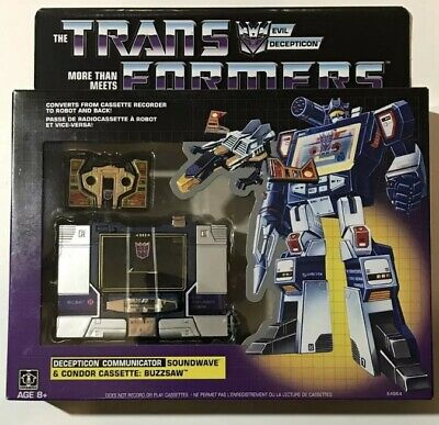 Hasbro Transformers Vintage G1 Exclusive Decepticon Soundwave with Buzzsaw Cass…