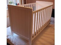 Mothercare white cot without a mattress