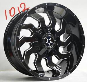 NEW 20 INCH RIMS 20X10 -24 OFFSET 8 BOLT ONLY $1190 FOR SET