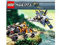 Lego Agents Set 8630 Gold Hunt Set - Rare & Discontinued - Complete and Hard to Find
