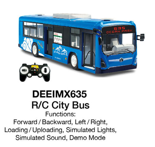Imex / Double Eagle Radio Control City Bus W/Opening Doors E635-003 MIB/New