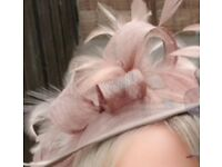 Fascinator worn once dusky pink / beige