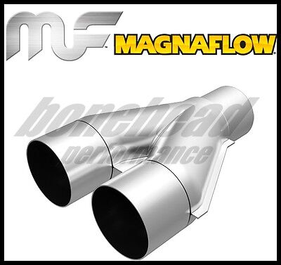 MagnaFlow Y Pipe All SS 4inch Dual 35inch Single x 13inch Overall
