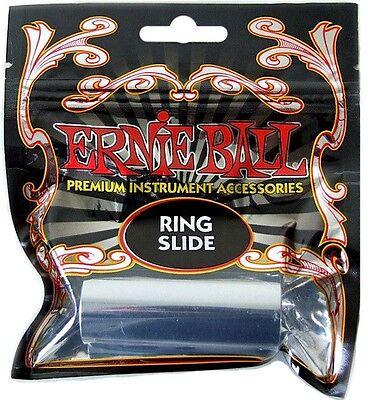 ERNIE BALL® CHROME PLATED BRASS RING GUITAR SLIDE *NEW* 4235