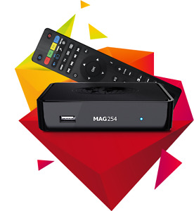Mag 254 IPTV box with five months subscription