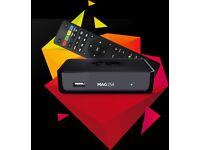 MAG 254 IPTV BOX OPENBOX 12 MONTHS WARRANTY