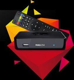 MAG 250/254 IPTV BOX 12 MONTHS WARRANTY