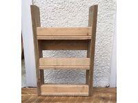 3 tier Spice rack. Reclaimed wood. Pallet furniture.