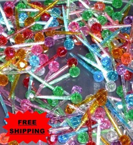 25 Small Mini Globe Lights Bulbs Peg Pin Ceramic Christmas Tree **FREE SHIP**